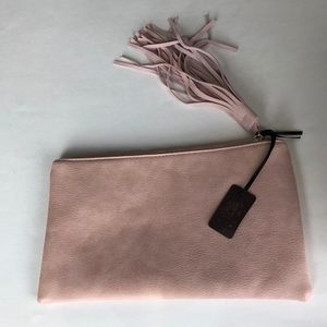 NWT Hello 3am Light Pink Clutch with Tassel Pull